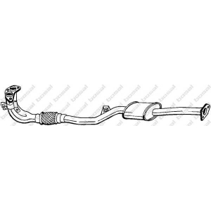 BOSAL 177-271 Exhaust muffler front