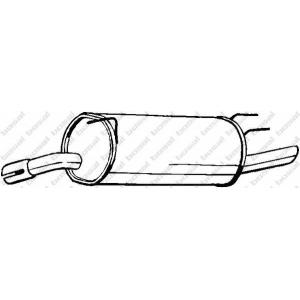 185353 bosal Глушитель выхлопных газов конечный OPEL OMEGA универсал 2.0