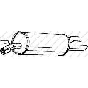 Глушитель выхлопных газов конечный 185355 bosal - OPEL OMEGA B (25_, 26_, 27_) седан 2.5 D