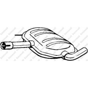 233515 bosal Средний глушитель выхлопных газов VW PASSAT седан 2.0 16V