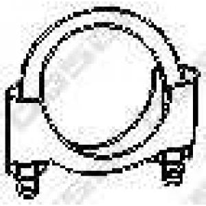 BOSAL 250-250 Хомут выпускной системы 50мм M8 10шт