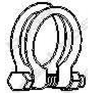 Клемма, система выпуска 250454 bosal - MERCEDES-BENZ C-CLASS универсал (S202) универсал C 200 T (202.080)