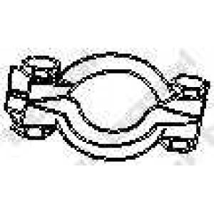 Клемма, система выпуска 254701 bosal - MERCEDES-BENZ C-CLASS (W202) седан C 200 CDI (202.134)