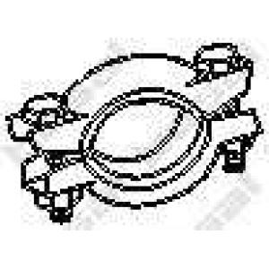 Клемма, система выпуска 254787 bosal - FIAT PANDA (141A_) Наклонная задняя часть 800