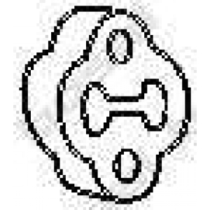 Буфер, глушитель 255168 bosal - KIA CARNIVAL II (GQ) вэн 2.9 CRDi