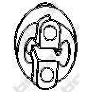 Буфер, глушитель 255427 bosal - DAEWOO KALOS (KLAS) Наклонная задняя часть 1.2