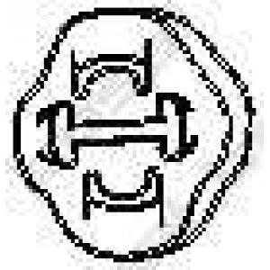 BOSAL 255853 Елемент випускної системи