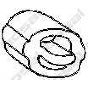 Буфер, глушитель 255919 bosal - OPEL ASCONA C (81_, 86_, 87_, 88_) седан 1.3 S