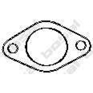 Уплотнительное кольцо, труба выхлопного газа 256398 bosal - FIAT PUNTO / GRANDE PUNTO (199) Наклонная задняя часть 1.4 16V