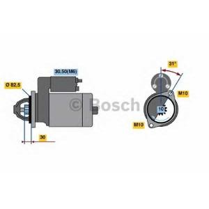 BOSCH 0 001 109 250 Стартер MB Sprinter 2.2/2.7CDI, 00-06