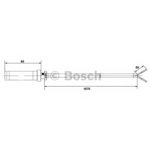 Датчик, частота вращения колеса 0265004010 bosch - VW LT 28-35 II автобус (2DM) автобус 2.5 SDI