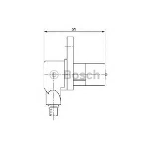 0265006232 bosch Датчик, частота вращения колеса NISSAN PRIMERA седан 1.8 16V