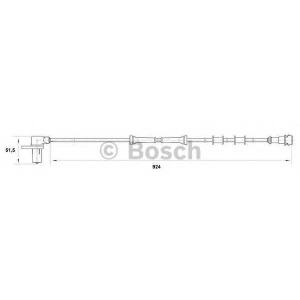 Датчик, частота вращения колеса 0265006425 bosch - VOLVO V40 универсал (VW) универсал 2.0 T