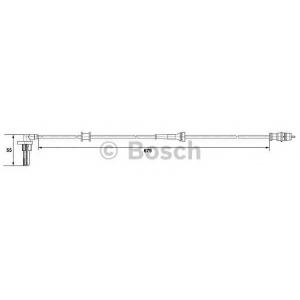 Датчик, частота вращения колеса 0265007533 bosch - RENAULT KANGOO Express (FC0/1_) фургон 1.6 16V bivalent