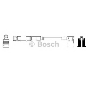 Провод зажигания 0356912908 bosch - MERCEDES-BENZ 190 (W201) седан E 1.8 (201.018)