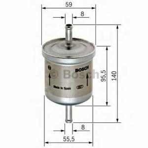 Топливный фильтр 0450905002 bosch - VAUXHALL ASTRA Mk III (F) седан 1.4 i