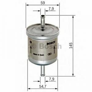 0450905976 bosch Топливный фильтр CHEVROLET AVEO Наклонная задняя часть 1.2
