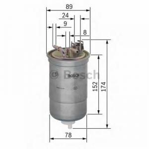 Топливный фильтр 0450906322 bosch - SKODA FABIA (6Y2) Наклонная задняя часть 1.9 SDI