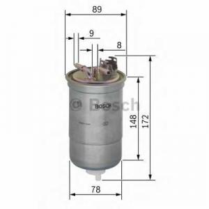 BOSCH 0450906373 Фильтр топливный дизельный H=172mm VW Lupo 1,2/1,4TDI; Polo 1,7/1,9SDI