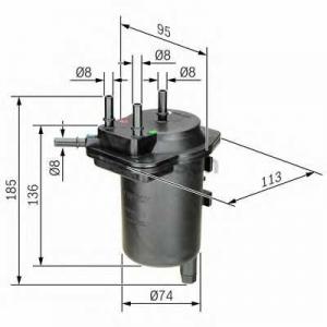Фильтр топл. NISSAN WF8362/PS980/2 (пр-во WIX-Filt 0450907013 bosch -