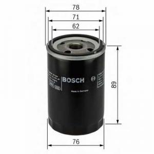 BOSCH 0451104026 Фильтр масляный MG 1,4-2,0 00-; ROVER 1,1-2,0 89-; LAND ROVER 1,8/2,5i 98-
