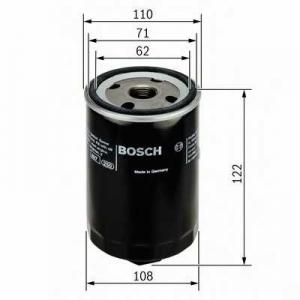 Масляный фильтр 0451203223 bosch - AUDI 100 (44, 44Q, C3) седан 2.0 D Turbo