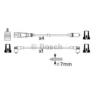 Комплект проводов зажигания 0986356338 bosch - VW GOLF II (19E, 1G1) Наклонная задняя часть 1.8 GTI