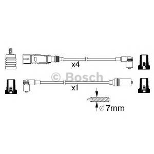BOSCH 0986356358 BOSCH  Высоковольтные провода SEAT CORDOBA 1.4I, IBIZA, VW