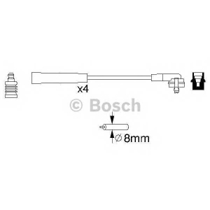 0986356700 bosch Комплект проводов зажигания FORD FIESTA Наклонная задняя часть 1.1