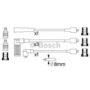 BOSCH 0986356792 Ккомплект проводов зажигания