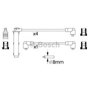 Комплект проводов зажигания 0986356802 bosch - FORD SIERRA (GBG, GB4) седан 2.0 4x4