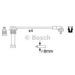 BOSCH 0986356805 Комплект высоковольтных проводов FORD 1,2-2,0: Mondeo, Escort, Fiesta; MAZDA 1,3