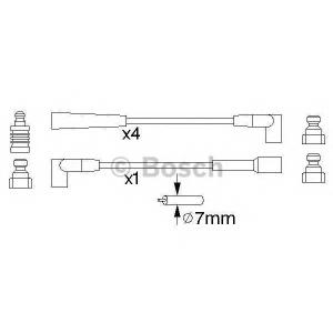 Комплект проводов зажигания 0986356886 bosch - VAUXHALL NOVAVAN фургон 1.2