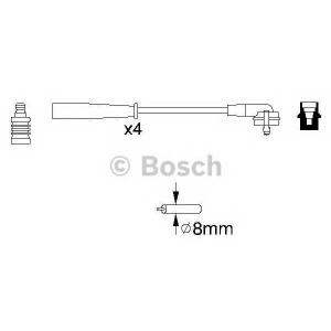 Комплект проводов зажигания 0986356887 bosch - FORD ESCORT V (GAL) Наклонная задняя часть 1.4