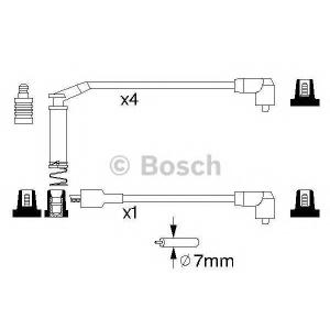 BOSCH 0986357127 BOSCH B127 Провода высокого напряжения 5шт. OPEL 1,4-2,0: Kadett E, Astra F
