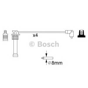 BOSCH 0986357141 Комплект кабелів високовольтних