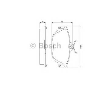 BOSCH 0986424016 Гальмівні колодки дискові VOLVO 960 3.0/940 2.4TD/S90 2.9/V90 2.9 -99