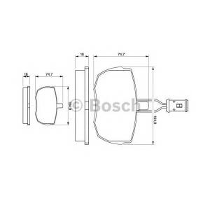 BOSCH 0 986 424 044 Комплект тормозных колодок, дисковый тормоз