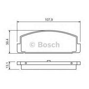 Комплект тормозных колодок, дисковый тормоз 0986424295 bosch - MAZDA 626 V Station Wagon (GW) универсал 2.0 Turbo DI