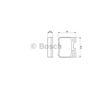 Комплект тормозных колодок, дисковый тормоз 0986424358 bosch - MERCEDES-BENZ седан (W124) седан 230 E (124.023)