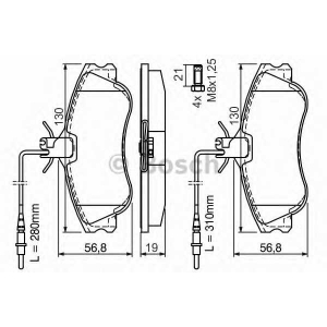 0986424414 bosch Комплект тормозных колодок, дисковый тормоз PEUGEOT 306 Break универсал 1.9 TD