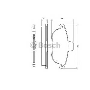 BOSCH 0 986 424 415 Торм колодки дисковые (пр-во Bosch)