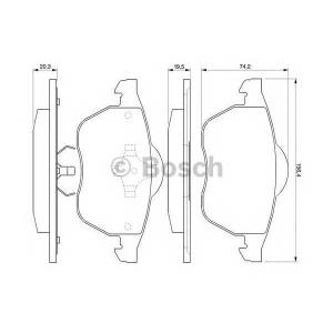 Комплект тормозных колодок, дисковый тормоз 0986424460 bosch - SEAT LEON (1M1) Наклонная задняя часть 1.8 20V T 4