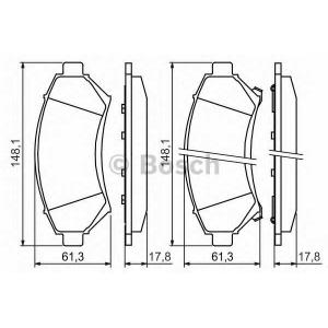 Комплект тормозных колодок, дисковый тормоз 0986424466 bosch - OPEL SINTRA вэн 2.2 i 16V