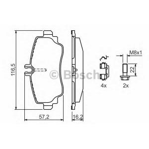 BOSCH 0 986 424 469 Торм колодки дисковые (пр-во Bosch)