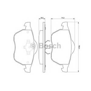 BOSCH 0 986 424 481 Торм колодки дисковые (пр-во Bosch)
