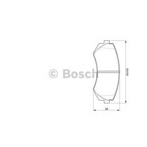 Комплект тормозных колодок, дисковый тормоз 0986424489 bosch - NISSAN SUNNY III Liftback (N14) Наклонная задняя часть 2.0 i 16V