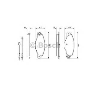 BOSCH 0 986 424 511 Комплект тормозных колодок, дисковый тормоз Ситроен Хм