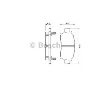 BOSCH 0 986 424 535 Торм колодки дисковые (пр-во Bosch)