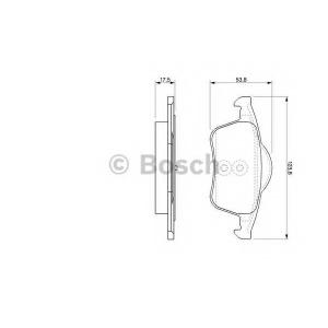 Комплект тормозных колодок, дисковый тормоз 0986424539 bosch - VOLVO S80 (TS, XY) седан 2.0 T
